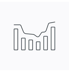 Dynamics icon Statistic chart sign vector image