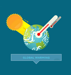 environmental problem hot weather earth vector image