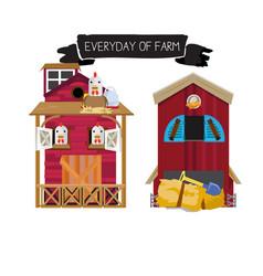 farm houses vector image