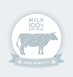 Farm shop cow milk Diagram and Design Elements in vector image