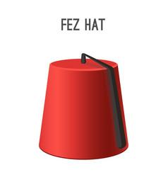 fez hat national headwear people vector image