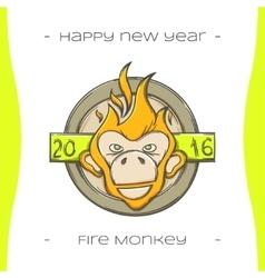 Fire Monkey Four vector