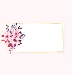 Floral flower frame with text space design vector