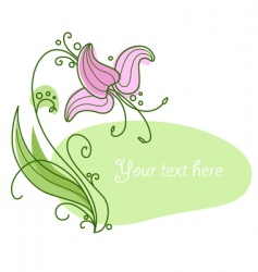 flower and frame vector image