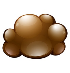 Fluffy cloud on white vector image