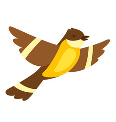 flying tit vector image