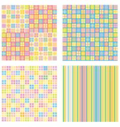 four of abstract pattern backgrounds vector image