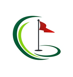 golf land play tournament logo vector image