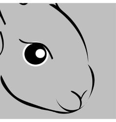 Grey easter rabbit Animal vector