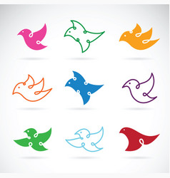 Group of bird design on white background bird vector