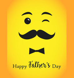 happy fathers day emoji card vector image
