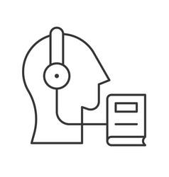 head headphone and e book human skill development vector image