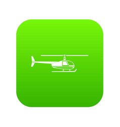helicopter icon digital green vector image