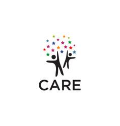 human care logo design template icon vector image