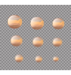 Jupiter planet jupiter isolated set planet jupiter vector
