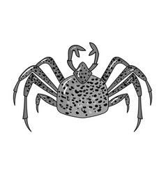 King crab icon in monochrome style isolated on vector