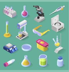 Laboratory equipment isometric design vector