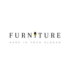logo for furniture floor lamp in word vector image