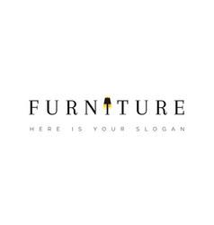 Logo for furniture floor lamp in word vector