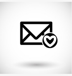 mail icon envelope vector image