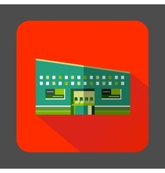 Modern building icon in flat style vector image