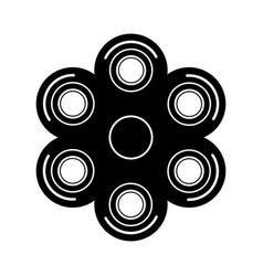 modern spinner black icon on white vector image