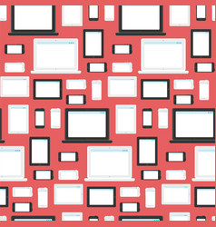 modern technics and devices seamless pattern vector image