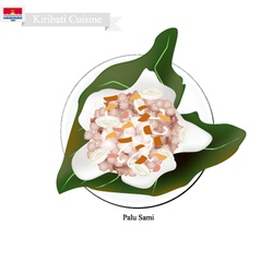 Palu Sami or Kiribati Meat with Coconut vector