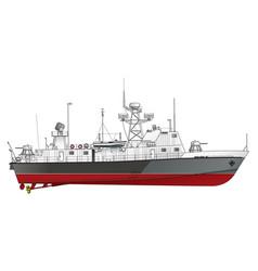 Patrol ship vector