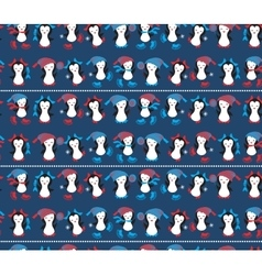Penguins Pattern seamless vector image