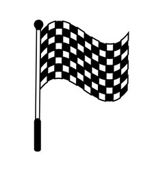 Racing flag silhouette vector