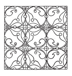 Renaissance enamel pattern is a design that uses vector
