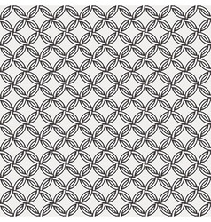 Retro pattern - lines circles and diamond stars vector