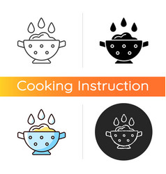 Rinse cooking ingredient icon vector