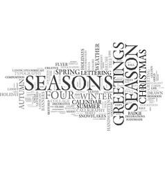 season word cloud concept vector image