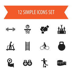 Set of 12 editable active icons includes symbols vector