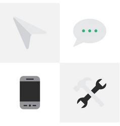 Set of simple menu icons vector