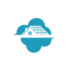 sky house in clouds logo eps 10 vector image