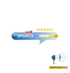 sports news icon for journalism of news tv vector image