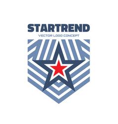Start trend - logo template creative vector