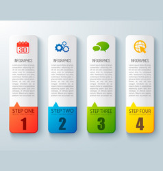 Step by step infographic layout vector