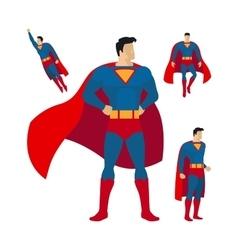 Superhero flat style icons vector image