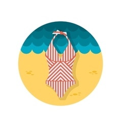 Swimsuit flat icon vector image