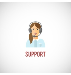 Technical support woman icon vector