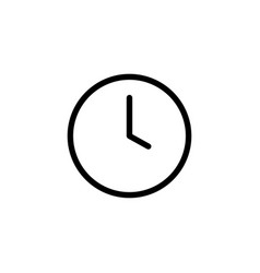 thin line clock icon vector image