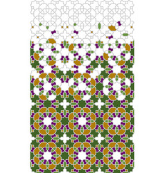 Tile art border pattern geometric mosaic vector