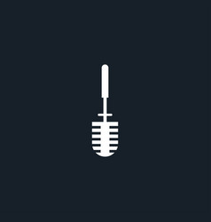 toilet brush icon simple vector image
