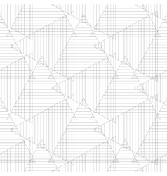 Triangle striped on white background vector