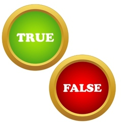 True and false icons vector