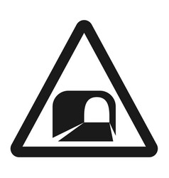 tunnel ahead sign line icon vector image